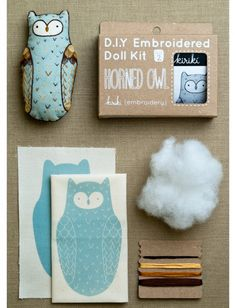 Little Animal Embroidery Kits