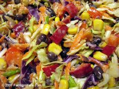 Farmgirl Fare: Three No-Cook Summer Recipes:Mexican Jumping Bean Slaw, Easy Vegetarian Tacos & High Kickin' Creamy Tomato Dressing