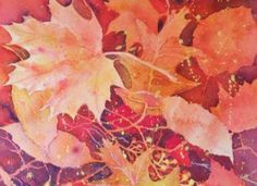 Layering Leaves by Negative Painting in Watercolor