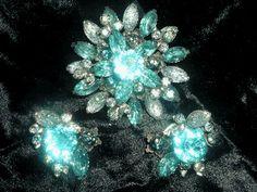 50s brooch and earrings