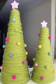 Uma árvore de linha de tricô.
