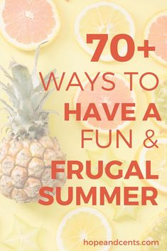 Are you looking for some frugal summer ideas? From things to do at home to inexpensive activities on-the-go, there are tons of things you can do that are fun but won't break the bank. You'll love these budget-friendly summer ideas. Save Money On Groceries, Ways To Save Money, Money Tips, Money Saving Tips, How To Make Money, Money Savers, Frugal Living Tips, Frugal Tips, Debt Free Living