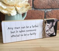 Ideas Gifts For Dad From Daughter Diy Awesome Gifts For Girls, Kids Gifts, Gifts For Dad, Daddy Gifts, Grandpa Gifts, Personalized Photo Gifts, Photo Blocks, Grandparents Day, Photo On Wood