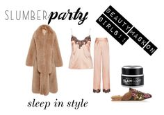 """""""Sleeping with high fashion"""" by idk-frida on Polyvore featuring moda, Jonathan Simkhai, Agent Provocateur, Gucci, GlamGlow, gucci y slumberparty"""
