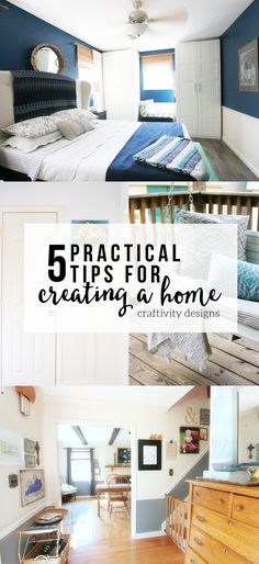 5 Practical Tips for Creating a Home, How we Created a Home in 2016, Year in Review, by @CraftivityD