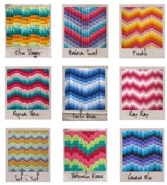 Bargello Colorways Pattern:  http://craftyarncouncil.com/nov_crochproj.html