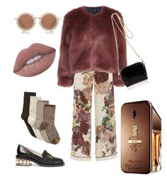 """Fall in Paris"" by dantzlerjazmin on Polyvore featuring Valentino, Stine Goya, Gold Toe, Nicholas Kirkwood, River Island, House of Holland, Paco Rabanne and Lime Crime"