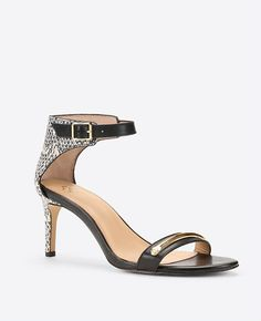 Image of Jenna Exotic Embossed Leather Sandals
