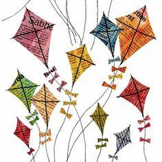 Poppycock & Other Creative Nonsense: Spoonflower contest - Kites