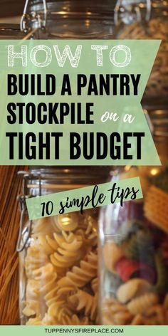 Learning how to stockpile food on a budget is the perfect way to cut your grocery bill. Includes the top 10 foods & non-foods for beginners to stockpile. Frugal Meals, Budget Meals, Frugal Recipes, Frugal Living Tips, Frugal Tips, Save Money On Groceries, Groceries Budget, Food Storage, Storage Organization