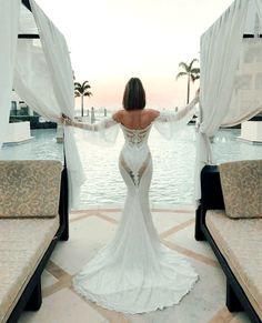 An elegant moment captured at our exotic poolside oasis 📸@eternalbridal Versace Gold Coast, Palazzo Versace, Luxury Definition, Beauty Room, Spa Day, 5 Star Hotels, Oasis, Fashion Brands, Lace Dress