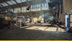Half-Life 2 Reimagined With Unreal Engine Looks Gorgeous Game Environment, Environment Concept Art, 2nd City, Half Life, 3d Warehouse, Unreal Engine, Matte Painting, Fantasy Landscape, Environmental Art