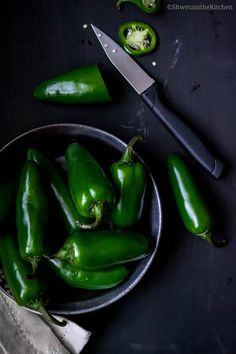 Shweta in the Kitchen: Pickled Jalapenos - How To Make Picked Japalenos Without Canning