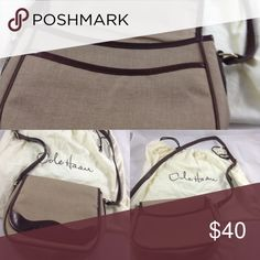 Purse Tan and brown Cole Haan cross body bag in excellent condition. Cole Haan Bags Crossbody Bags