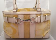 Coach Hampton Optic Yellow Signature Tote. Starting at $22