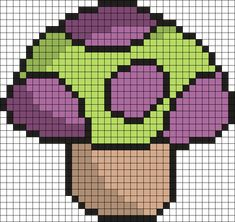 League Of Legends Teemo Shroom Perler Bead Pattern / Bead Sprite