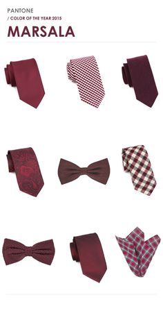 Check out all the best menswear accessories in the Pantone Color of The Year 2015 - Marsala.