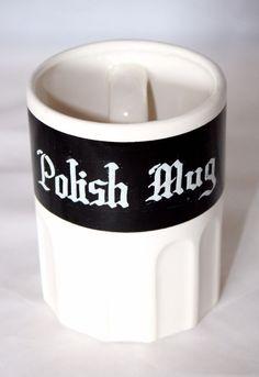 """Funny """"Polish Mug"""" with Handle Inside 13oz. Ceramic Polack Joke Novelty Gag Gift"""