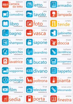 Italian Vocabulary Memorizing Stickers You can find Italian language and more on our we. Russian Language Lessons, Russian Lessons, Russian Language Learning, Italian Lessons, Learn A New Language, Learn Italian Language, French Lessons, Spanish Lessons, Italian Grammar