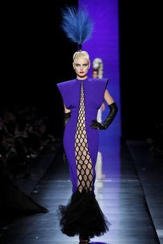 Pantone Spring 2014 colors, Dazzling Blue. (Jean Paul Gaultier Spring 2014 Couture}