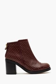 Carbon Studded Boot - Oxblood