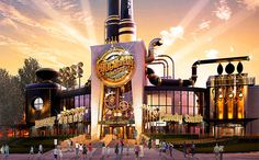 There's no need for golden tickets to enter this chocolate factory.  Universal Studios Orlando announced Monday that it would openToothsome Chocolate Factory & Savory Feast Emporium on its CityWalk, nearUniversal's Islands of Adventure theme park.  The full-service,Steampunk-themed restaurant bears a strong resemblance to Willy Wonka's iconic factory, with tubes and all, but it's not explicitly derived from Gene Wilder's workplace.