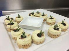 Opolo wine dinner passed appetizer - Danish bleu cheese cheesecakes - Bellatrix Restaurant & Classic Club golf course - Palm Desert, CA