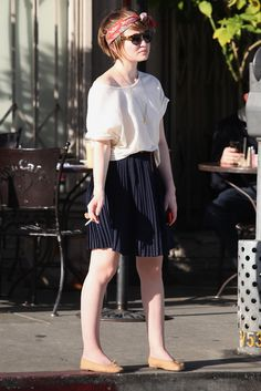 emily browning// love the hair/outfit