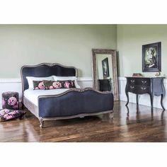 Montmartre Black Velvet Bed | Luxury Bed - Black French Bedroom Furniture
