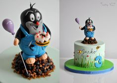 Mole in a trousers - Cake by CakesVIZ Mole, Cake Cookies, Cake Decorating, Food And Drink, Baking, Birthday, Desserts, Cakes, Type 3