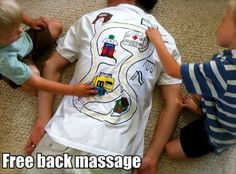 That's a free back massage