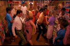 John Waters Hairspray, dancing in Baltimore record store