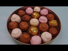 Bomboane fondante cu nuca (cu fondant de bombonerie) - reteta de cofetarie - YouTube Romanian Desserts, Romanian Food, Romanian Recipes, Fondant, Cake Videos, Marzipan, Desert Recipes, Easter Eggs, Cookie Recipes