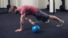 Burn fat and work your abs, chest, back and core with this taxing kettlebell workout