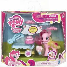 Amazon.com: My Little Pony Friendship Is Magic Bridesmaid Pony Figure Playset - Pinkie Pie: Toys & Games