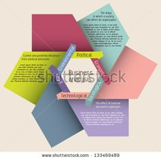 Editable modern colorful design template presentation with arrows forming the shape of hexagon and sample text for info-graphics / banners / graphic or website layout vector by Tinushka, via ShutterStock