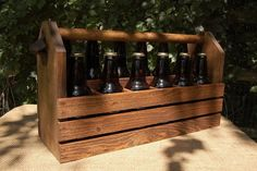 Handcrafted Wood 12 pack Wood Beer Carrier / by PotterybyDan, $50.00