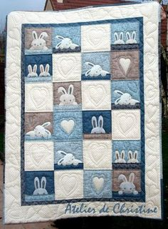 Adorable child's quilt and Easter quilt. I'll make mine in brighter colors.