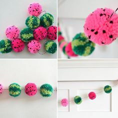 Pom Pom flowers - table decoration with a differenceDIY DEKO - Make flowers from pompoms yourself.Top 30 Lovely and Cheap DIY Christmas Crafts Sure to Wow You Crafts For Teens To Make, Easter Crafts For Kids, Crafts To Sell, Diy And Crafts, Decor Crafts, Home Decor, Pom Pom Crafts, Yarn Crafts, Pom Pom Diy