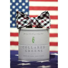 The Quad Bow in Maroon/Black by Collared Greens
