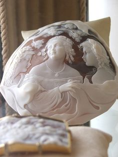 Whole shell carved cameo