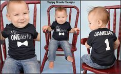 1st Birthday shirt! Mr. ONEderful with a bowtie is adorable! www.happybrooke.com facebook.com/happybrooke instagram.com/happybrookedesigns