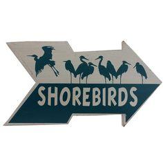 Handcrafted Nautical Decor Wooden Arrow Shorebirds Beach Sign Wall Decor.#LGLimitlessDesign #Contest LG Limitless Design