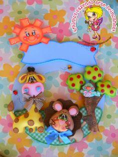 Qmimos - Hacer ¡broma Arte: Girlanda habitación - Baby Safari