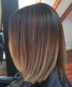 cabello corto balayage mezclado