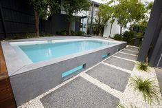 Bombay bluestone - modern - pool - melbourne - by Minke Pools
