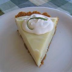 Thought I would share,  Key Lime Pie recipe