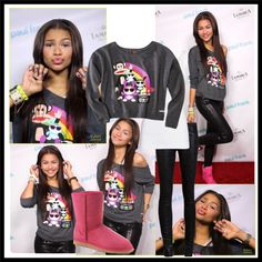 """Zendaya! Night out with Paul Frank"" by cecebellrock on Polyvore"