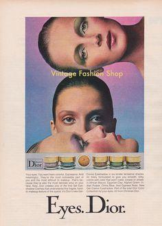 Dior make-up advert, 1973
