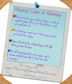 Murphy's Laws of Parenting
